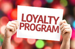 Loyalty Program card with colorful background with defocused lights-1